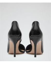 Reiss - Black Blake High-back Court Shoes - Lyst