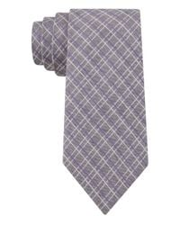 DKNY - Purple Silk-Blend Check Tie for Men - Lyst