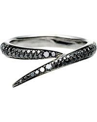 Shaun Leane | Signature 18ct White-gold And Black Diamond Interlocking Ring | Lyst