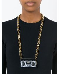 Moschino | Metallic Stereo Charm Necklace | Lyst