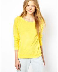 American Vintage   Yellow Scoop Neck Sweater   Lyst