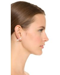 Vita Fede - Metallic Titan Double Hexagon Earrings - Lyst