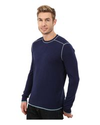 Agave - Blue Long Sleeve Crew Neck Fine Gauge for Men - Lyst