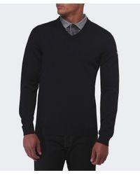 BOSS Green | Black Veeh Wool V-neck Jumper for Men | Lyst