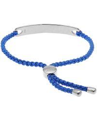 Monica Vinader - Cornflower Blue Havana Silver Friendship Bracelet - Lyst