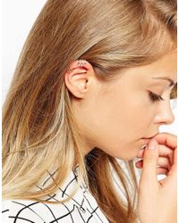 ASOS - Multicolor Gold Plated Sterling Silver Open Ear Cuff Pack - Lyst