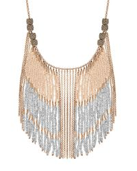 Lucky Brand | Metallic Beaded Collar Necklace | Lyst