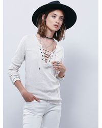 Free People | White We The Free East Village Tunic | Lyst