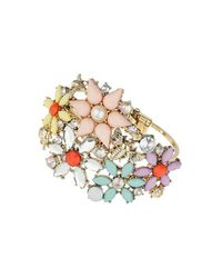 TOPSHOP | Multicolor Flower and Insect Stone Bracelet | Lyst