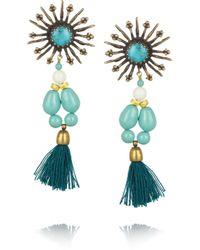 Isabel Marant - Blue Kayapo Goldtone Howlite Earrings - Lyst