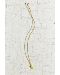 Urban Outfitters - Yellow Isla Charm Necklace - Lyst