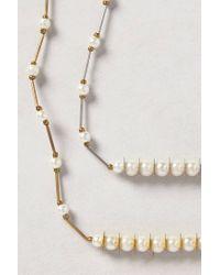 Daydream Nation | Metallic Dot-dot-dash Necklace | Lyst