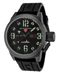 Swiss Legend | Submersible Black Silicone And Dial Gunmetal Ip Steel Case for Men | Lyst