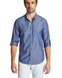 Guess | Blue Carson Sportshirt for Men | Lyst