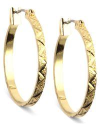 Anne Klein | Metallic Gold-tone Small Hoop Earrings | Lyst