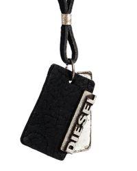 DIESEL | Black Disesel Alory Necklace for Men | Lyst