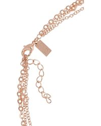 Arme De L'Amour | Pink Rose Gold-Plated Multi-Strand Necklace | Lyst