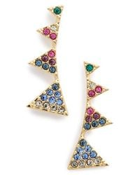 Nadri | Metallic Triangle Post Earrings | Lyst