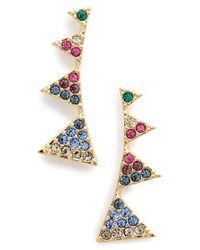 Nadri | Metallic Triangle Post Earrings | Lyst