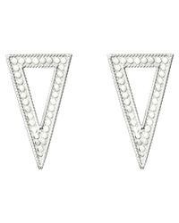 Anna Beck | Metallic Triangle Post Earrings | Lyst