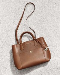 MICHAEL Michael Kors - Brown Greenwich Large Leather Tote - Lyst