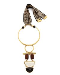 Lizzie Fortunato | Metallic Column Necklace - Gold Multi | Lyst