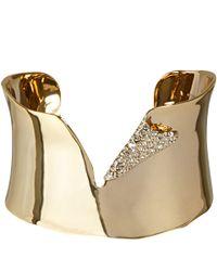 Alexis Bittar | Metallic Goldplated Torn Cuff Bracelet | Lyst