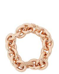 Eddie Borgo | Metallic Rose Gold Crystal Embellished Chain Bracelet | Lyst