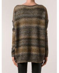 Allude   Brown Metallic Sweater   Lyst