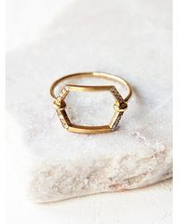 Free People | Metallic Jennie Kwon Womens Cut Out Diamond Ring | Lyst