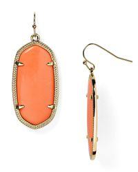 Kendra Scott - Orange Elle Earrings - Lyst