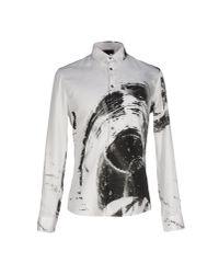 Les Hommes | White Shirt for Men | Lyst