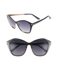 Tom Ford - Black 'lena' 58mm Sunglasses - Lyst