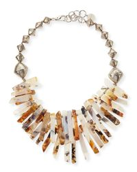 Nest - Gray Montana Agate Point Necklace - Lyst