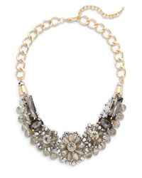 Saks Fifth Avenue | Metallic Jeweled Floral Collar Necklace | Lyst