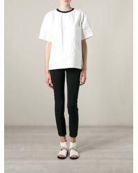 MSGM - White Polyethylene Back Logo Print T-Shirt - Lyst