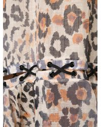 Chloé | Brown Leopard Gauze Dress | Lyst