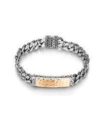 John Hardy | Metallic Classic Chain Hammered Id Bracelet for Men | Lyst