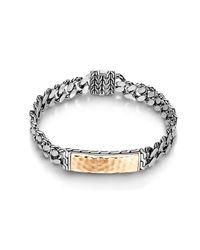 John Hardy - Metallic Classic Chain Hammered Id Bracelet for Men - Lyst