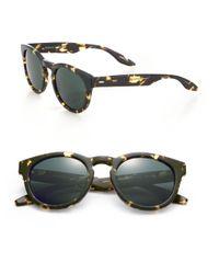 Barton Perreira - Green 52mm Printed Round Sunglasses - Lyst