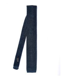 Nick Bronson | Blue Navy Phil Birdseye Knit Silk Tie for Men | Lyst