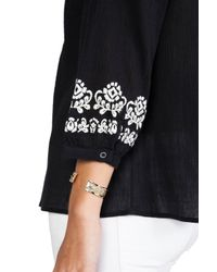 Joie | Melenia Embroidered Blouse in Black | Lyst