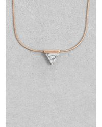 & Other Stories | Metallic Stone Necklace | Lyst