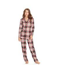 Pink Pony | Red Plaid Cotton Pajama Set | Lyst