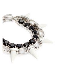 Joomi Lim - Black Spike Crystal Chain Bracelet - Lyst