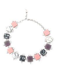 Eshvi - Metallic Geometric Beaded Necklace - Lyst