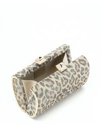 Jimmy Choo - Multicolor Sand Leopard Print Suede 'mini Charm' Clutch - Lyst