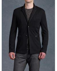 John Varvatos - Black Peak Lapel Knit Jacket for Men - Lyst