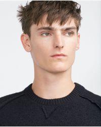 Zara | Blue Felt Sweater for Men | Lyst