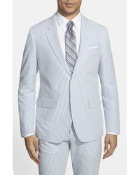 Haspel | Blue Trim Fit Seersucker Cotton Sport Coat for Men | Lyst